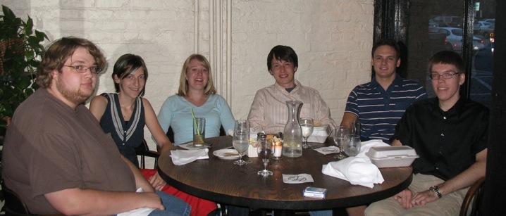 Interns going away dinner at M's Pub